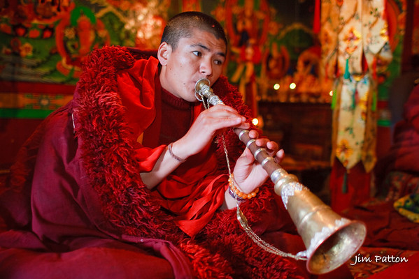 Buddhist Horn Player