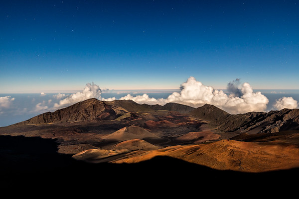 Moonlight at Haleakala