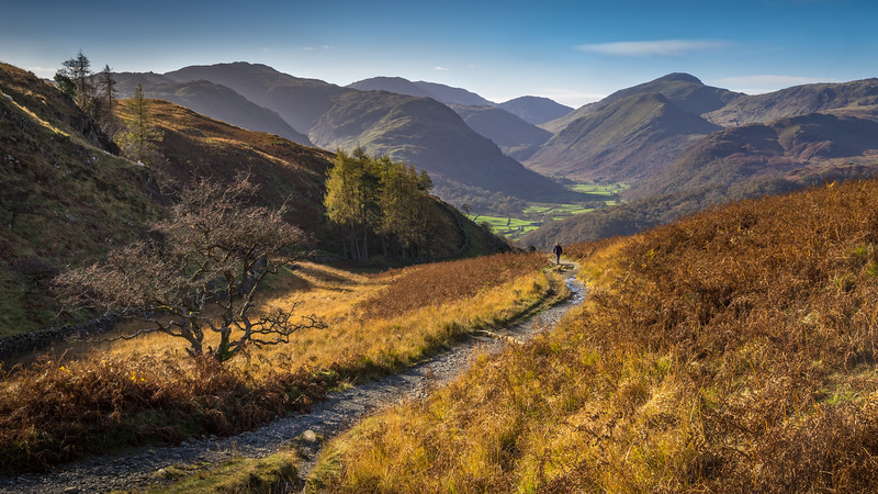 View to the Borrowdale Valley