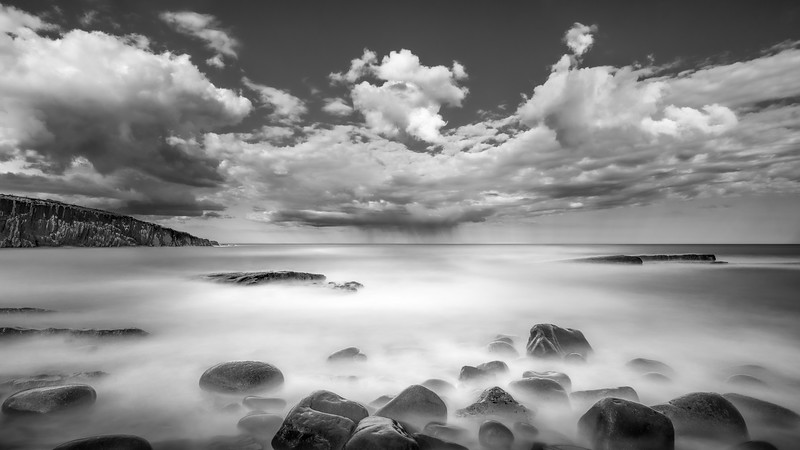 Heavy shower, Cullernose Point