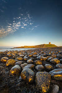 Evening light at Dunstanburgh