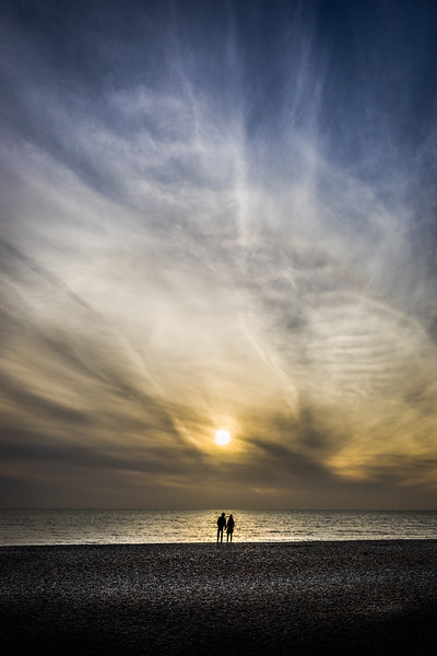 Couple on Brighton beach