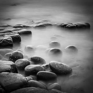 Pool of  boulders