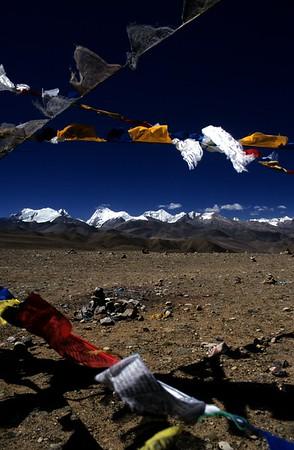 Prayer flags at Lalung-La pass (5,050m/16,570ft)
