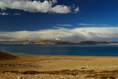 holy mount Kailash seen from Raksas lake