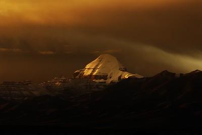 holy mount Kailash at sunset