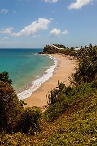 Sunny Tropical Caribbean Beach Landscape