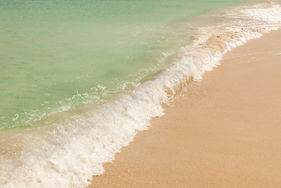 Ocean Wave on Beautiful Sandy Caribbean Beach