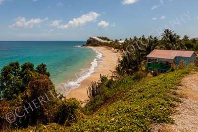 Beautiful Sunny Tropical Caribbean Beach Landscape