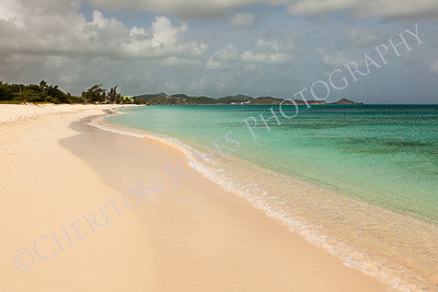 Sandy Tropical Caribbean Cloudy Sky
