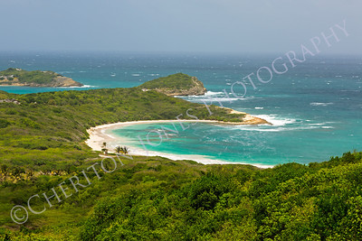 Tropical Deserted Beach in Half Moon Bay Antigua