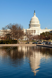U.S. Capitol and Reflecting Pool in Winter Sunshine