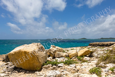 Rocky Coastline at Devil's Bridge Antigua