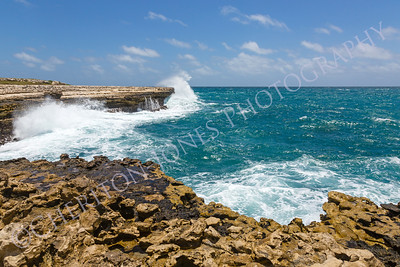 Rocky Coastline near Devil's Bridge Antigua
