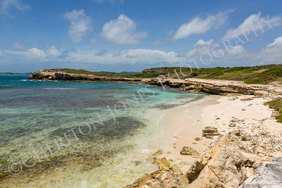 Beautiful Rustic Rocky Tropical Beach Antigua