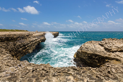Devil's Bridge Antigua Rocky Limestone Coastline
