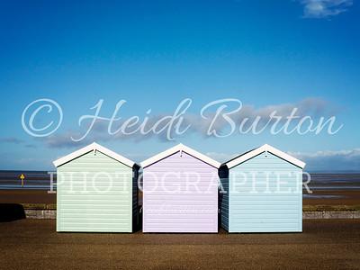 Weston-super-Mare beach huts by Heidi Burton