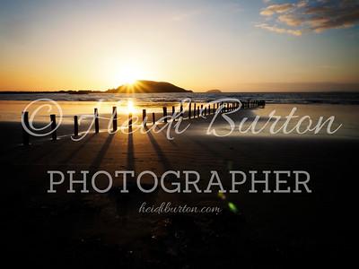 Brean Down from Uphill Beach by Heidi Burton