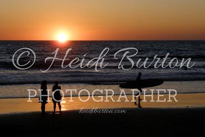 Santa Monica Beach sunset by Heidi Burton, Weston-super-Mare Photographer