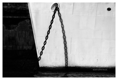 Anchor Chain And Shadow On The Thames