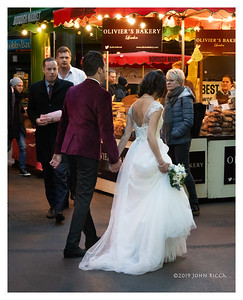 Bride And Groom At The Borough Market - London