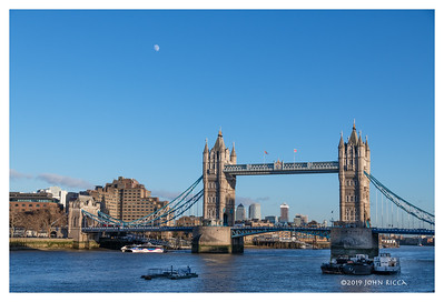 Moon Over Tower Bridge - London