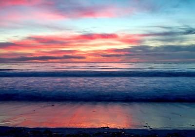 Dreamy Sunset on Carmel Beach