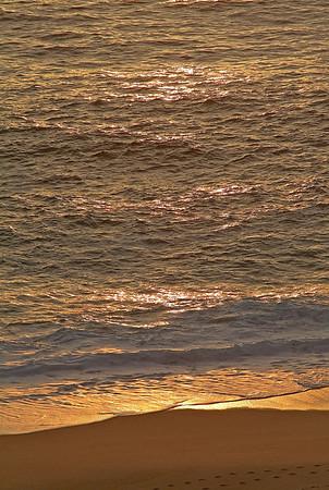 Golden Surf at Sunset