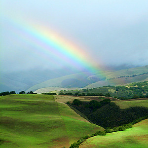 Winter Rainbow in Carmel Valley