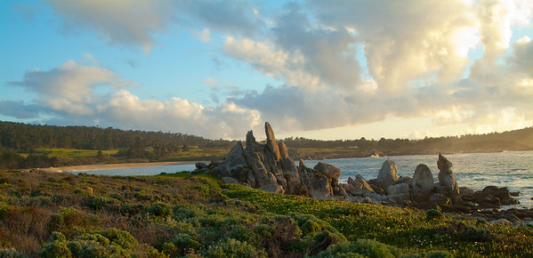 Ribera Beach Panoramic View Carmel, California