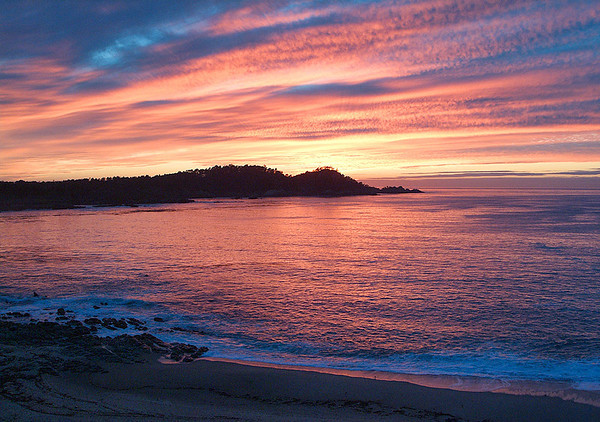 Red Sunset Over Point Lobos