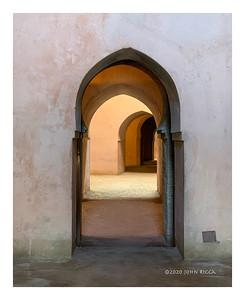 Doorways In Royal Stables, Meknes, Morocco