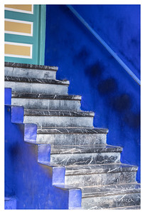 Grey Steps In A Blue World