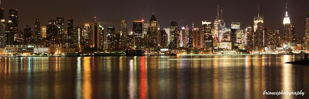NYC Skyline view from Weehawken (Panoramic)