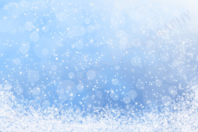 Abstract Winter Snowy Blue Sky Background