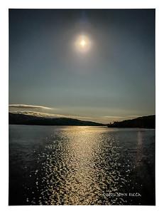Moon Over Upper Saranac Lake, NY