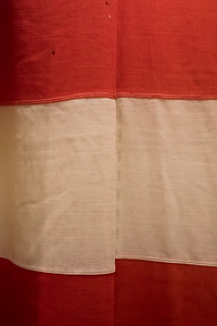 A 1916 flag, flown at the dedication of Elephant Butte Dam way back then. Taken at the Geronimo Springs Museum, Truth or Consequences, New Mexico, USA.