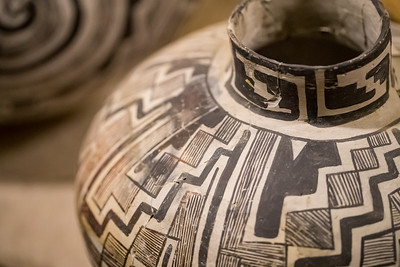 Pottery detail. Taken at the Geronimo Springs Museum, Truth or Consequences, New Mexico, USA.