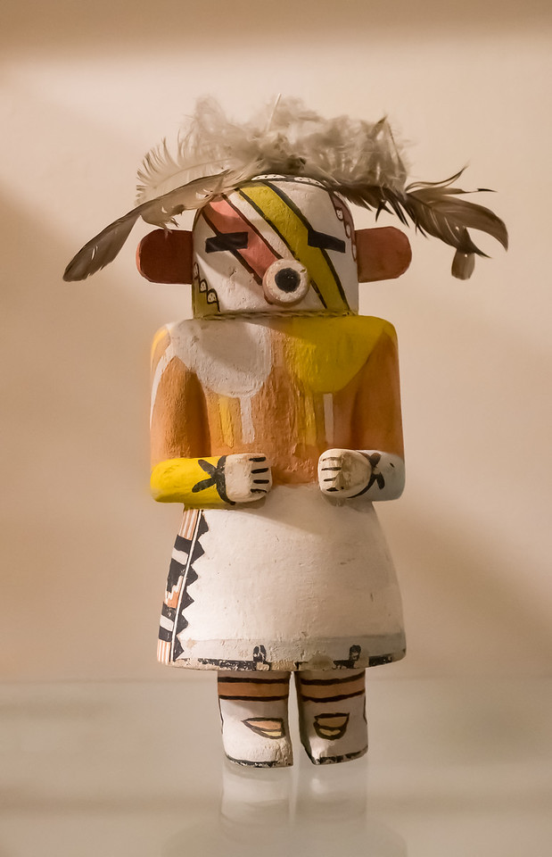 A Hopi kachina. Taken at the Geronimo Springs Museum, Truth or Consequences, New Mexico, USA.