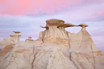 """Heading North Again""  Sunset at the formations known as ""The Wings"" in the Bisti/De-Na-Zin Wilderness Area of New Mexico, USA."