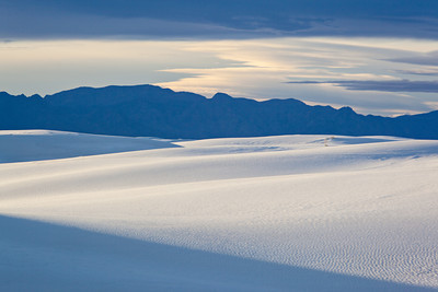 """Diagonals At White Sands""  The light forms diagonals on the dunes and in the sky of White Sands National Monument, New Mexico, USA."