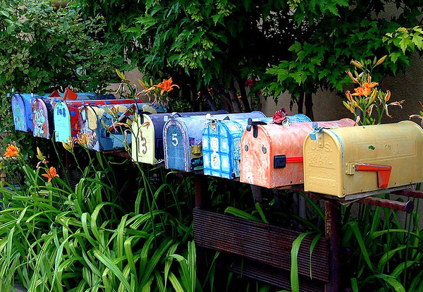 Colorful Mailboxes on Canyon Road