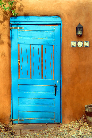 Blue Door in Santa Fe