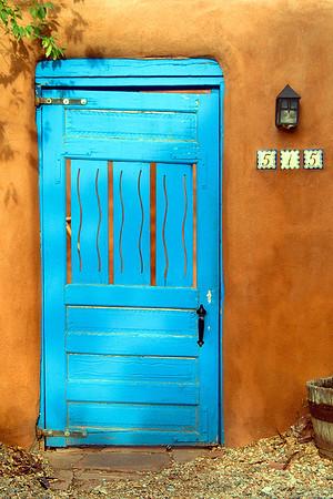 Blue Door in Santa Fe
