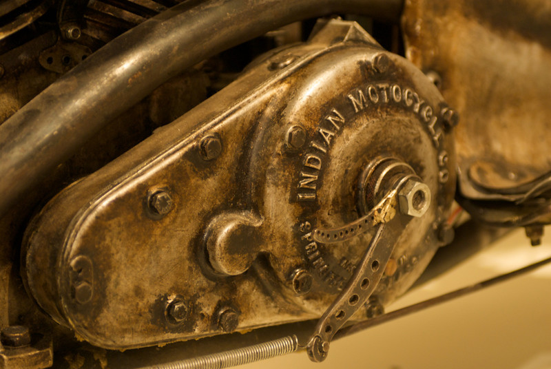 Burt Munro's 1920's Indian Scout motorcycle, Invercargill Southland Museum, Invercargill, New Zealand
