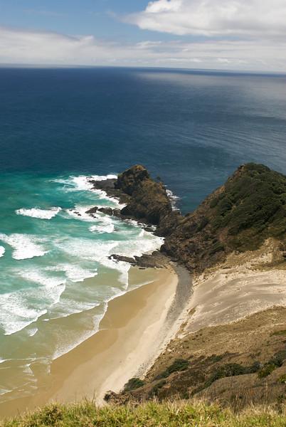 Where the Pacific ocean & Tasman sea meet, Cape Reinga, New Zealand