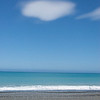 Looking east into the Pacific ocean from Highway 1, north of Kaikoura, New Zealand