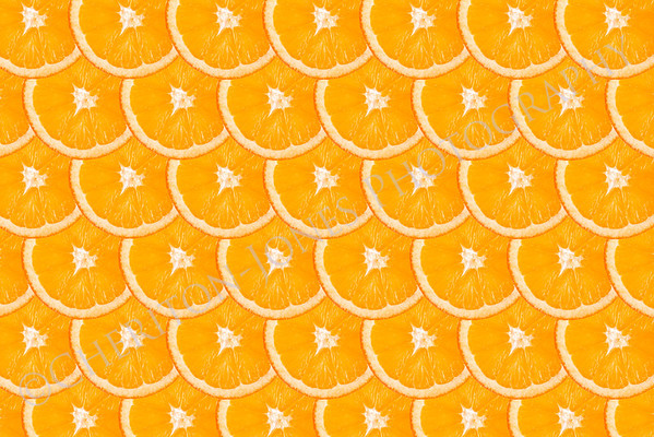 Fresh Orange Slice Background