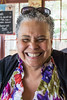 Friendly and interesting Yvonne Ryans, who shared her table with me at Papa's Soul Food Restaurant. Taken in Eugene, Oregon, USA.