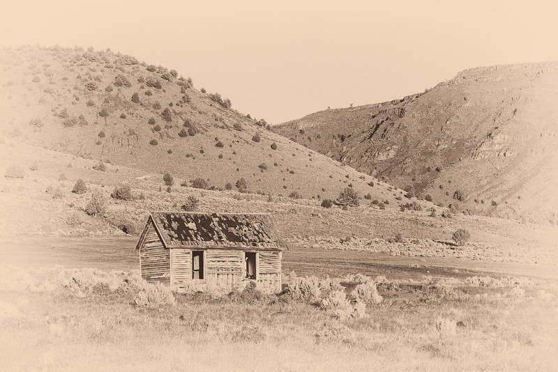 An historic schoolhouse. Taken on the Roaring Springs Ranch, Harney County, Oregon, USA.